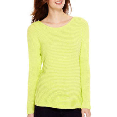 jcpenney.com | a.n.a® Long-Sleeve Textured Sweater - Tall