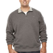 IZOD® Quarter-Zip Fleece Sweatshirt - Big & Tall