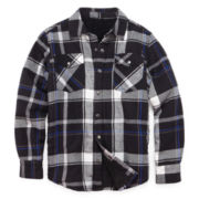 Arizona Sherpa-Lined Flannel Shirt - Boys 8-20