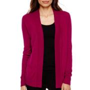 Worthington® Long-Sleeve Open Cardigan Sweater - Tall