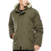 U.S. Polo Assn.® Hooded Parka with Faux-Fur Trim