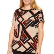 Worthington® Short-Sleeve Oversized Tunic Top - Plus