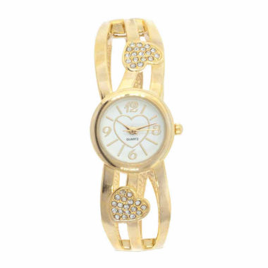 jcpenney.com | Womens Gold Tone Bangle Watch-Gen555