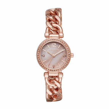 jcpenney.com | Liz Claiborne Womens Rose Goldtone Bracelet Watch-Lc1325