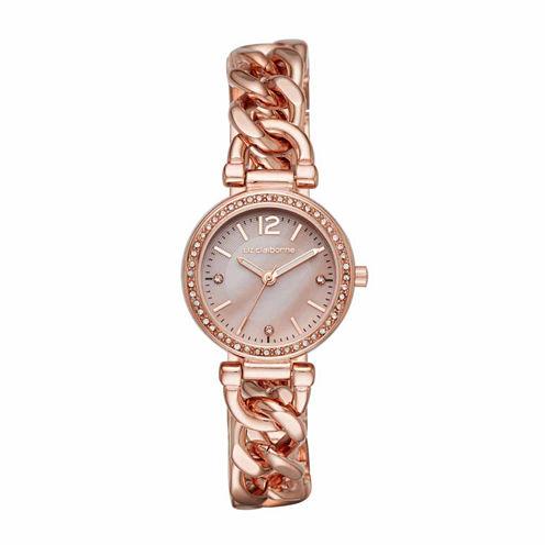 Liz Claiborne Womens Rose Goldtone Bracelet Watch-Lc1325