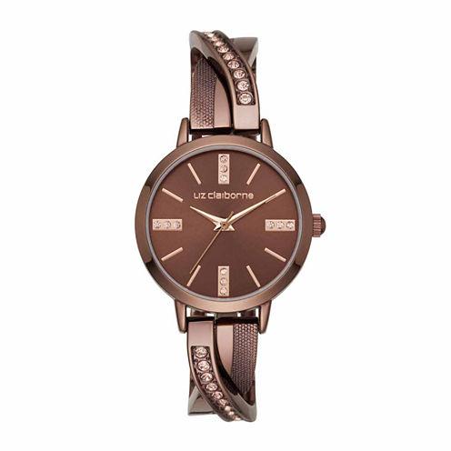 Liz Claiborne Womens Brown Bangle Watch-Lc1332