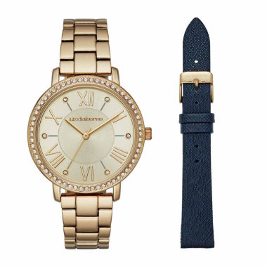 jcpenney.com | Liz Claiborne Womens Gold Tone Watch Boxed Set-Lc4003