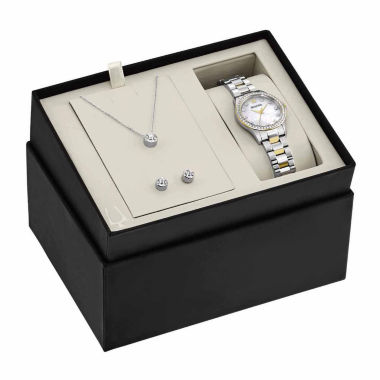 jcpenney.com | Bulova Womens Silver Tone Watch Boxed Set-98x112