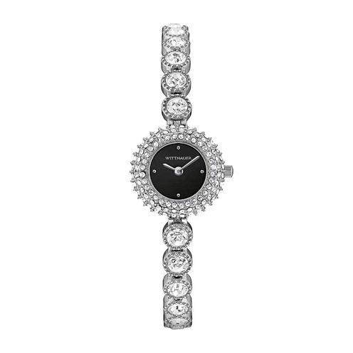 Wittnauer Crystal Womens Black Bracelet Watch