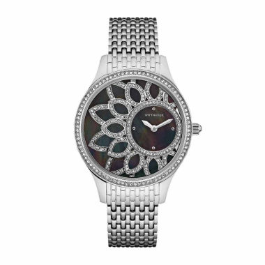 jcpenney.com | Wittnauer Crystal Womens Black Bracelet Watch
