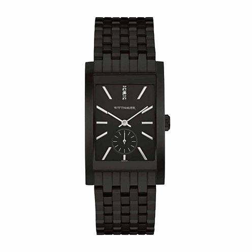 Wittnauer Mens Black Bracelet Watch
