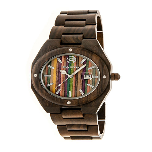 Earth Wood Unisex Multi-Color Strap Watch