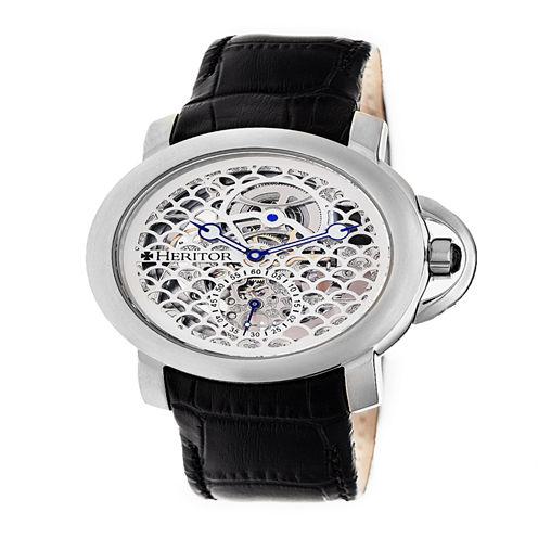 Heritor Mens Black Strap Watch-Herhr4001