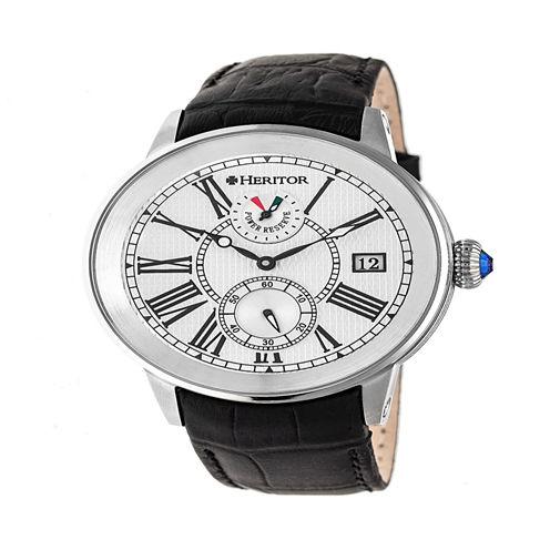 Heritor Mens Black Strap Watch-Herhr4301