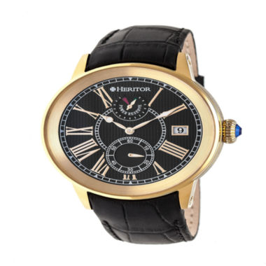 jcpenney.com | Heritor Mens Black Strap Watch-Herhr4304