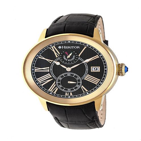 Heritor Mens Black Strap Watch-Herhr4304