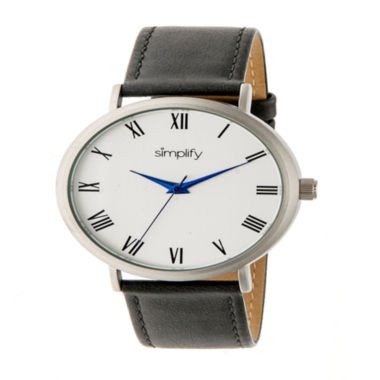 jcpenney.com | Simplify Unisex Gray Strap Watch-Sim2902