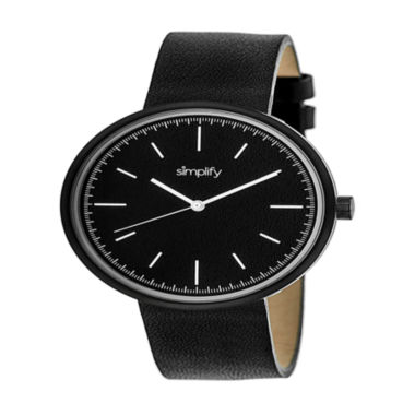 jcpenney.com | Simplify Unisex Black Strap Watch-Sim3001