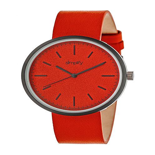 Simplify Unisex Red Strap Watch-Sim3002