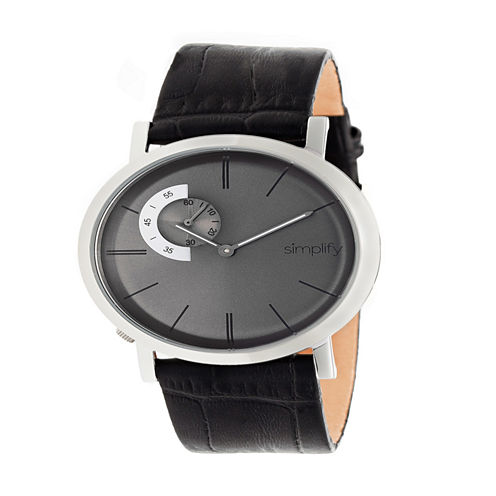 Simplify Unisex Black Strap Watch-Sim3103