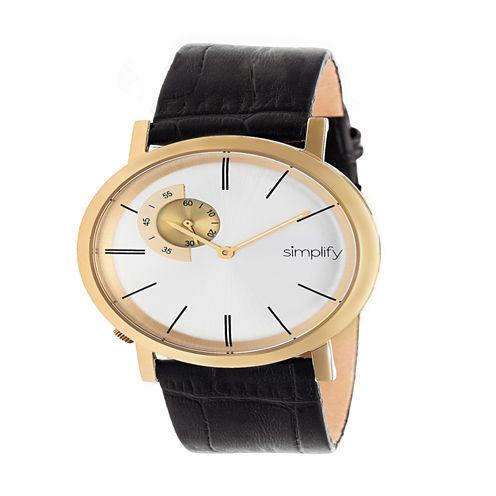 Simplify Unisex Black Strap Watch-Sim3104