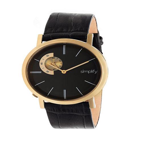 Simplify Unisex Black Strap Watch-Sim3105