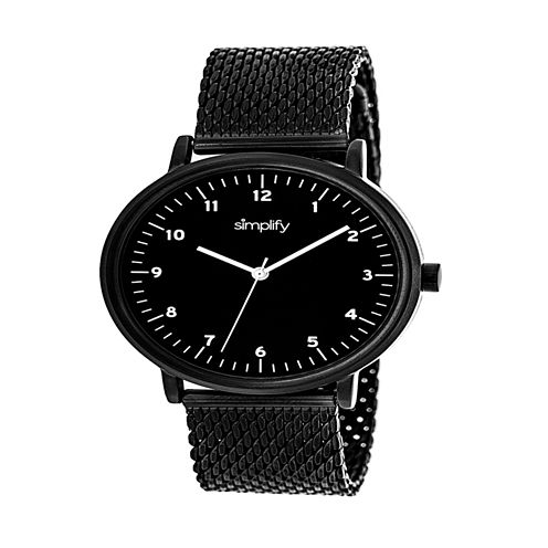 Simplify Unisex Black Strap Watch-Sim3205