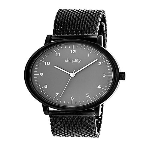 Simplify Unisex Black Strap Watch-Sim3206