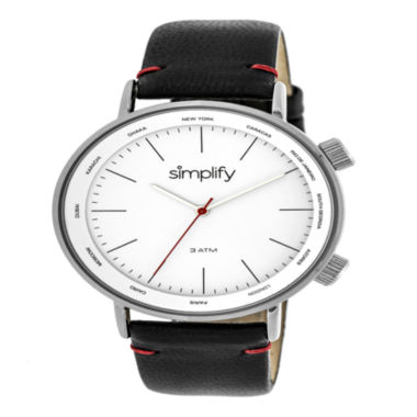 jcpenney.com | Simplify Unisex Black Strap Watch-Sim3301