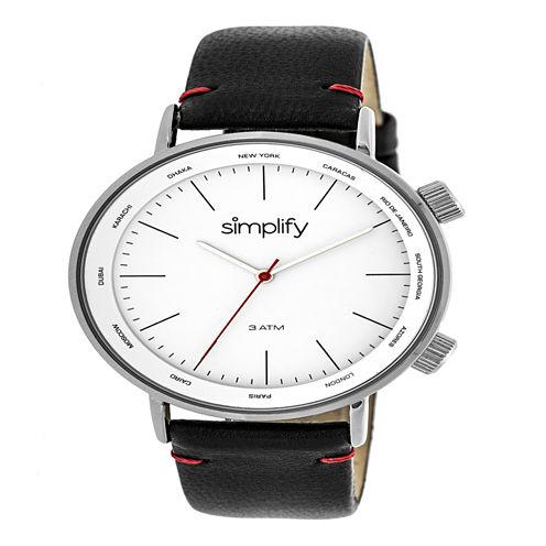 Simplify Unisex Black Strap Watch-Sim3301