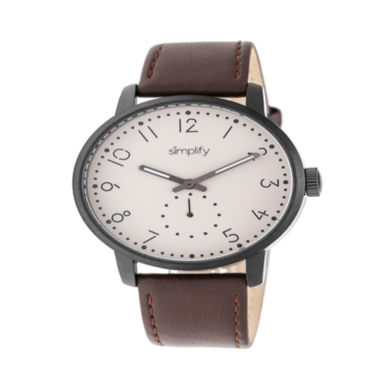 jcpenney.com | Simplify Unisex Brown Strap Watch-Sim3405