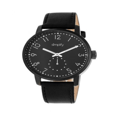 jcpenney.com | Simplify Unisex Black Strap Watch-Sim3406