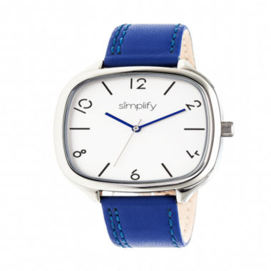 jcpenney.com | Simplify Unisex Blue Strap Watch-Sim3503