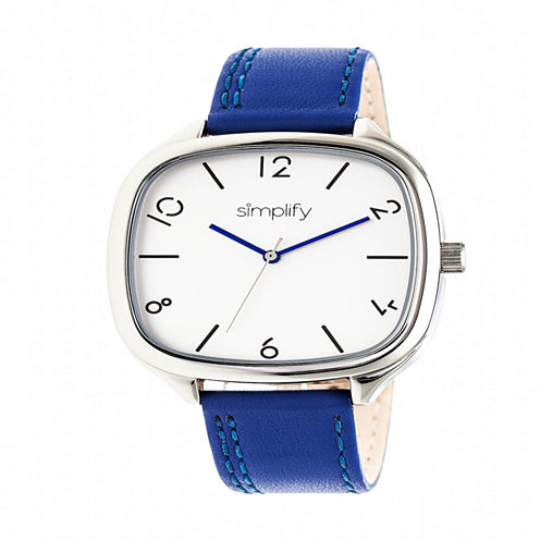 Simplify Unisex Blue Strap Watch-Sim3503