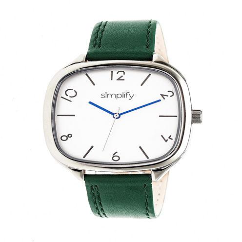 Simplify Unisex Green Strap Watch-Sim3504