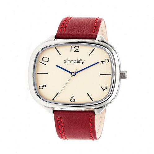 Simplify Unisex Red Strap Watch-Sim3506