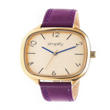 jcpenney.com | Simplify Unisex Purple Strap Watch-Sim3507