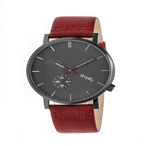 Simplify Unisex Red Strap Watch-Sim3605
