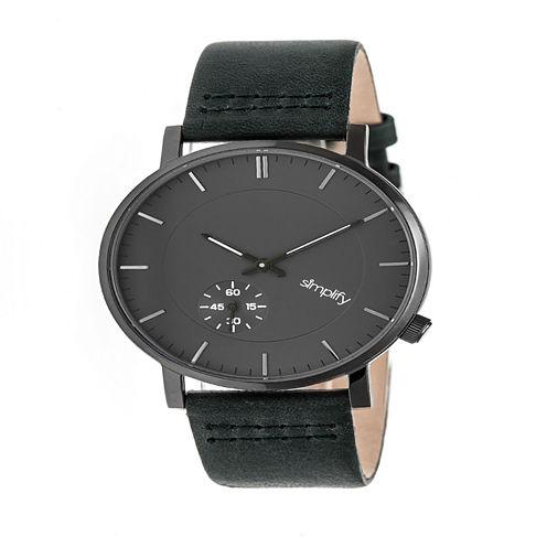 Simplify Unisex Green Strap Watch-Sim3606