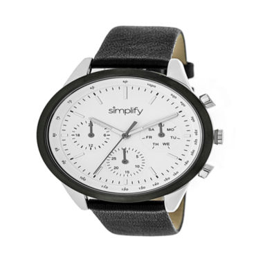 jcpenney.com | Simplify Unisex Black Strap Watch-Sim3801