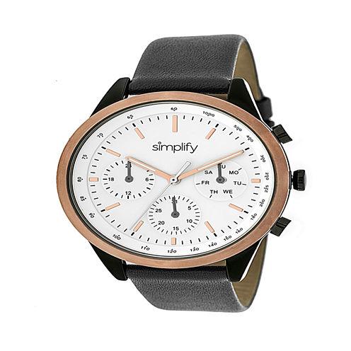 Simplify Unisex Gray Strap Watch-Sim3805
