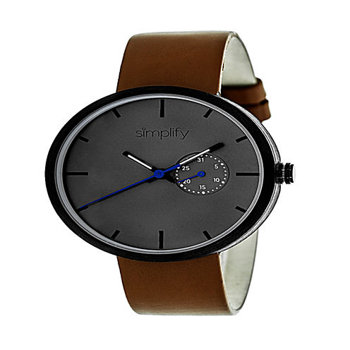 Simplify Unisex Brown Strap Watch-Sim3904