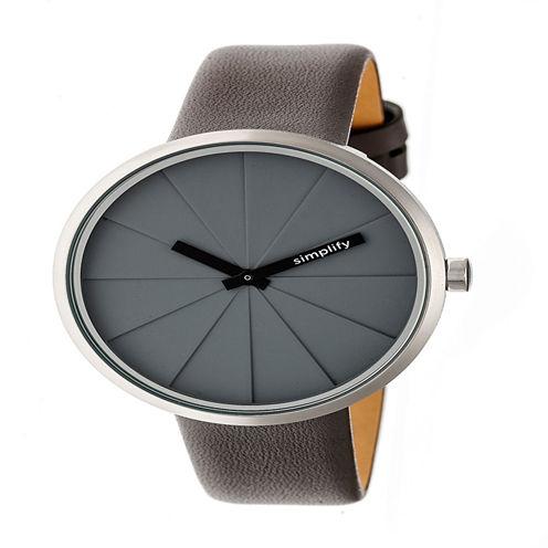 Simplify Unisex Gray Strap Watch-Sim4004