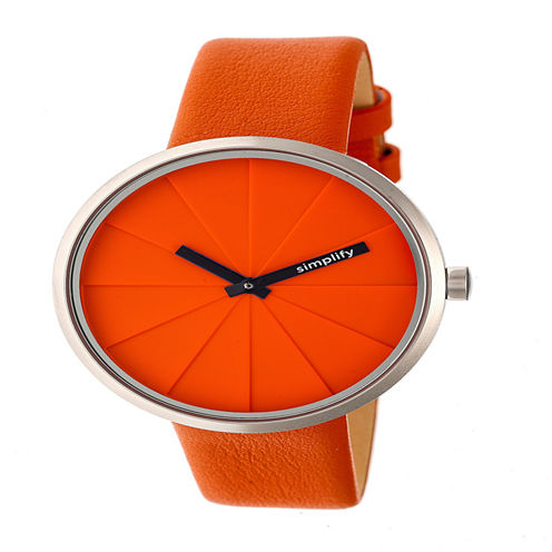 Simplify Unisex Orange Strap Watch-Sim4006