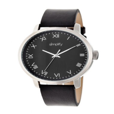 jcpenney.com | Simplify Unisex Black Strap Watch-Sim4202