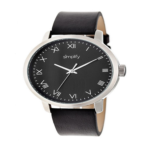 Simplify Unisex Black Strap Watch-Sim4202
