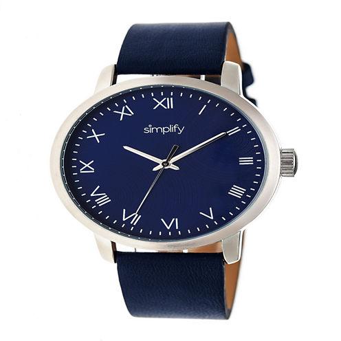 Simplify Unisex Blue Strap Watch-Sim4204