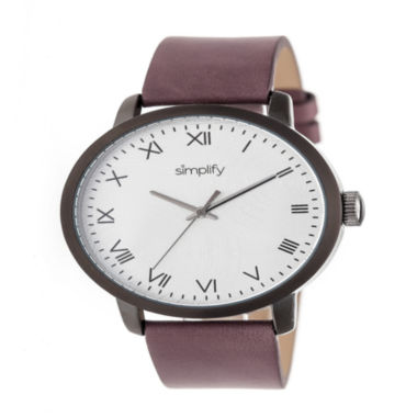 jcpenney.com | Simplify Unisex Purple Strap Watch-Sim4206