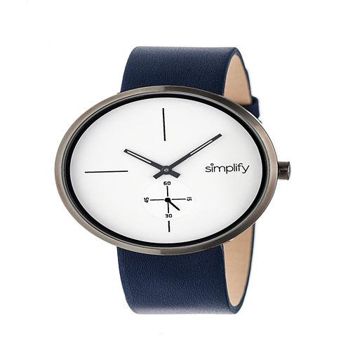 Simplify Unisex Blue Strap Watch-Sim4403
