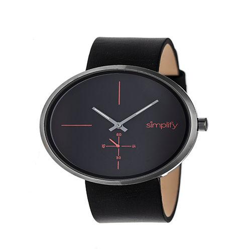 Simplify Unisex Black Strap Watch-Sim4404